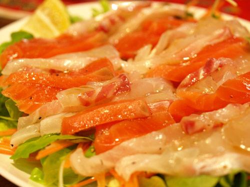 鯛と鮭のカルパッチョ