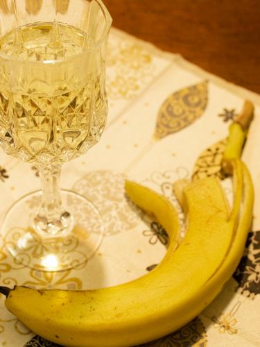 バナナと白ワインは合う