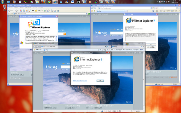 IE6,7&8 working on Windows 7
