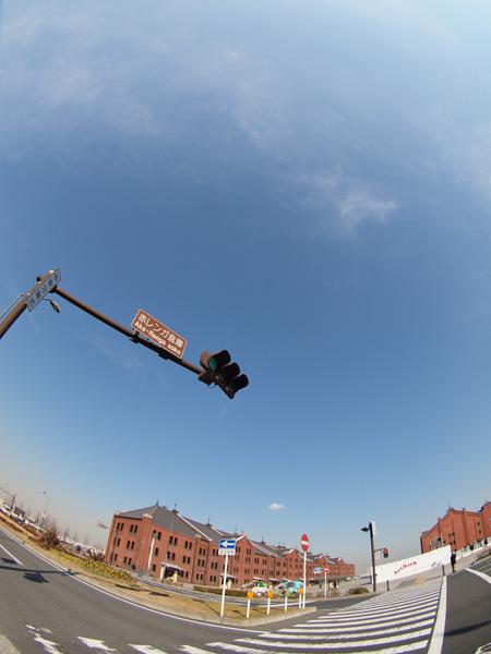赤レンガ倉庫前の信号
