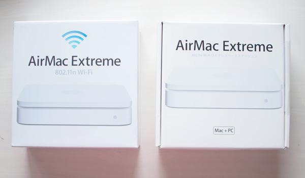 新旧AirPort Extreme外箱の比較