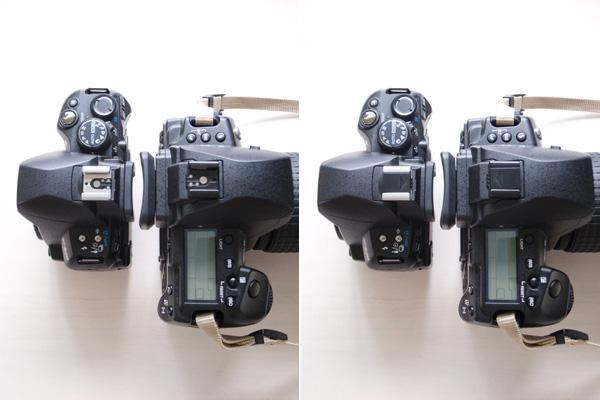 E-620(左)と E-5(右)