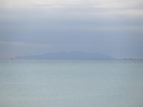 伊豆大島がはっきりと