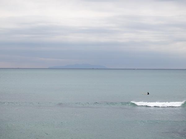 海の色が今までと違う