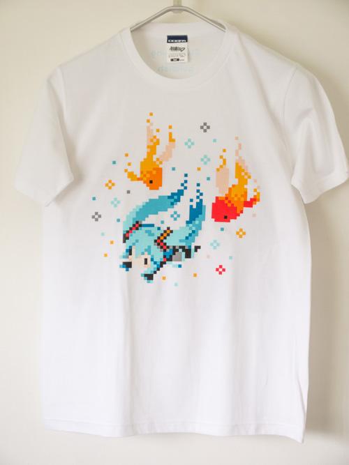 初音ミク ぷちでびる ver. 金魚Tシャツ