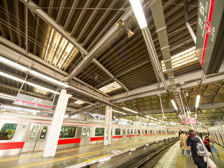 東急東横線 渋谷駅ホーム