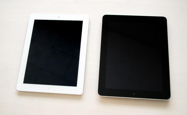 初代 iPad と 第4世代 iPad