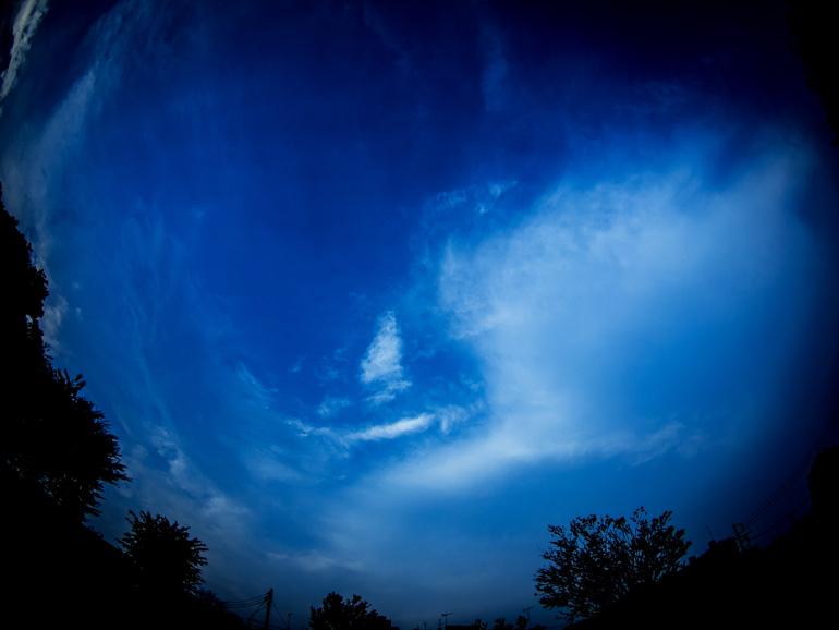 空を広く見渡せる場所で
