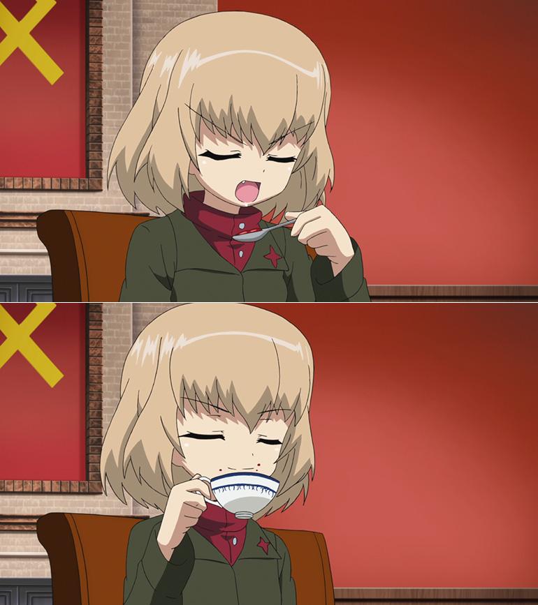 舐めながら紅茶を飲むのよ